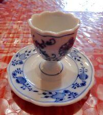 Coquetier ancien MEISSEN en porcelaine peinte à la main