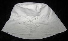 Baby Gap NWT White Bow Bucket Sun Hat  S/M 2 2T 3 3T $17
