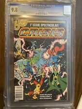 Crisis on Infinite Earths # 1 CGC 9.8 Newsstand Copy, 1st app. of Blue Beetle