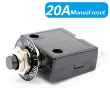 Circuit Breaker Panel Mount 20 Amp 12/24V Push Button Resettable Thermal