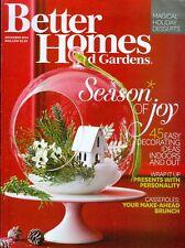 2014 Better Homes & Gardens Magazine: Christmas 45 Decorating Ideas/Casseroles