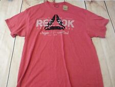 Reebok t shirt size 2Xl red heather pattern new with tags
