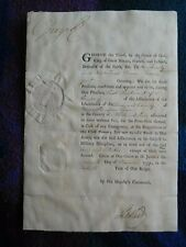 More details for king george iii excellent signed document from 1799