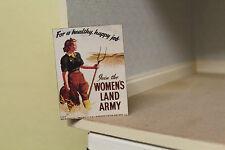 Dolls House (segno di metallo per alimenti shop = WOMEN'S LAND dell'Esercito