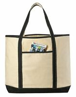 """22"""" LARGE Canvas Reusable Grocery Shopping Boat Tote Beach Totes Messenger Bag"""