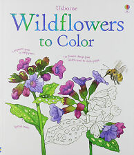 Usborne Adult Coloring Books Wildflowers to Color by Susan Meredith (pb)  NEW