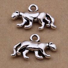 20pc Tibetan Silver 3D Leopard Animal Pendant Bracelet Charms Wholesale PJ800