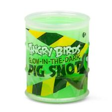 Angry Birds Glow In The Dark Pig Snot Green Slime Tub 6cm Official Product