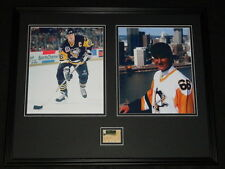 Mario Lemieux Signed Framed 16x20 Photo Set Penguins JSA