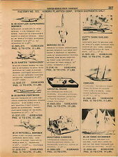 1961 ADVERT Aurora Plastic Model Cutty Sark Ship SSN Atomic Submarine Pirate