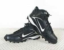 Nike Land Shark Mid Men's Football Shoes Cleat Black/White Size 15  318728-011