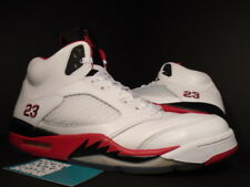 Nike Air Jordan V 5 Retro WHITE FIRE RED BLACK WOLF GREY SILVER 136027-120 Sz 12