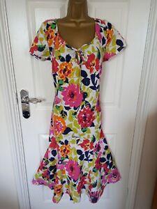 "Per Una  Size UK-16R  UnLined Fit & Flare 100% Linen dress  BUST 44"""