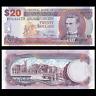 Barbados 20 Dollars, 2007, P-69, UNC