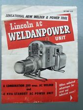 LINCOLN WELDER AC WELDPOWER UNIT GENUINE ORIGINAL SALES BROCHURE .