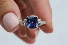 Lady's 18 Karat White Gold, Blue Sapphire and Diamond Ring by Philip Zahm
