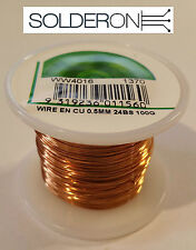 0.5mm Enamelled Copper Wire 100g Approx 60m 24BS