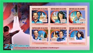 Space Shuttle Challenger disaster 25th Anniversary Stamp Sheet with six stamps