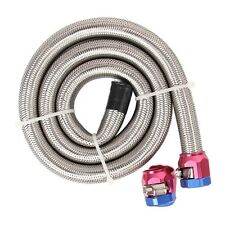 Top Fuel system Fuel Line Braided Stainless Steel Natural 3/8 in dia 3 ft Length