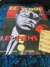 ED WOOD FILM FESTIVAL - ORIGINAL HUGE FRENCH POSTER - 1995