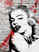 Marilyn Monroe Pop Art by Banksy 18x12 Print Poster Urban Street Art