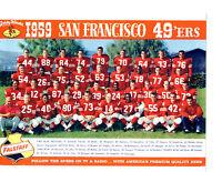 1959 SAN FRANCISCO FORTY NINERS 8X10 TEAM PHOTO TITTLE CALIFORNIA FOOTBALL NFL