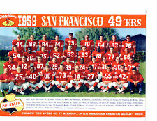1959 SAN FRANCISCO FORTY NINERS 8X10 TEAM PHOTO TITTLE CALIFORNIA FOOTBALL NFL