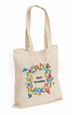 Personalised 'Flowers & Butterflies' Canvas Tote Bag- GIFT FOR GRANDMA MUM NAN