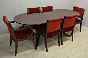 Regency style dining table and six chairs delivery available