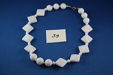 White bead Necklace 17 inch long  (39)