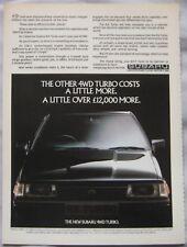 Subaru RX Turbo Original advert