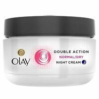 Olay Double Action Moisturiser Normal Dry Skin Night Cream Classic Care 50ml