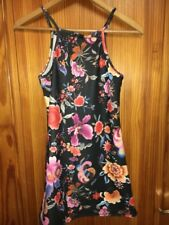 Girls  Dress  Age 10 Years New Tags D' Lisle Removable Top Blacks Floral
