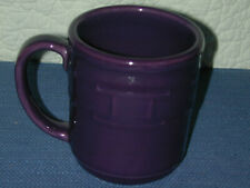 Longaberger Pottery Woven Tradition New Mug Made in Usa Eggplant