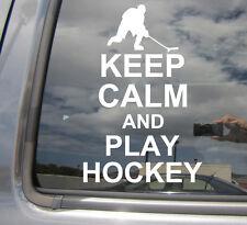 Keep Calm and Play Hockey - Car Window Vinyl Die-Cut Decal Sticker 03007