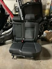 BMW E70 X5 REAR 2ND ROW LEFT DRIVER SIDE MIDDLE CENTER SEAT CHAIR PAIR BLACK OEM
