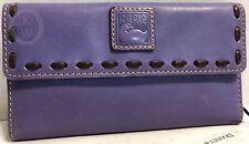 NWT☂️Dooney & Bourke☂️Lavender☂️ Florentine Leather ☂️Clutch WALLET # 18231G