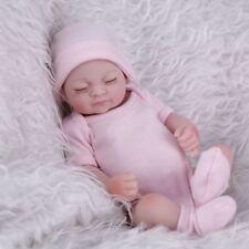 Lifelike 10'' Full Body Vinyl Baby Dolls Mini Reborn Washable Girl Doll for Xmas