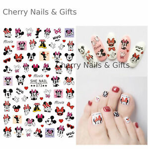 mickey minnie mouse NAIL ART STICKER classic disney cute red heart manicure diy