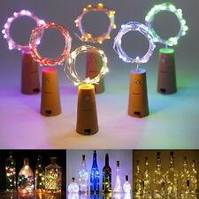 10 LED Cork Shaped Night Light Wine Bottle Lamp Wedding Party Decoration
