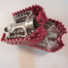 Odyssey Triple Trap Bike Pedals Red & Silver 9/16
