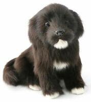 Realistic Black Labrador Dog Puppy Pet Plush Simulation Stuffed Animal  Doll Toy