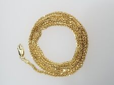 "Real 10k Yellow Gold Wheat Franco Link Necklace Chain 1.5 mm 24 "" inch Unisex"