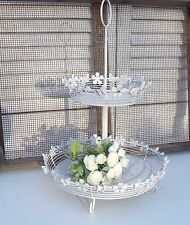 Etagere BUTTERFLY  offwhite Landhausstil Shabby Chic Vintage