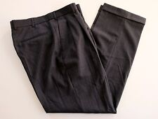 Alexandre London Savile Row 34x31  Gray Pinstripe Pleated Wool Dress Pants NWOT