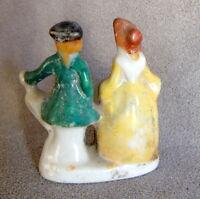 Figurine Porcelain Miniature People Man Woman 1776 Attire OCCUPIED JAPAN