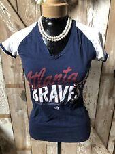 Women's Atlanta Braves Cotton Shirt by Majestic (Small)
