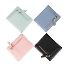 Women's Rfid Small Bifold Leather Wallet Pocket Zipper Coin Purse ID Card Holder