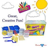 Children's Giant Pavement Chalks (24 Pack) & Chalk Paint Set, Creative Fun Kids