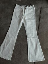 CREAM FALMER FLARE JEANS BNWT SIZE 14 EMBROIDERED  POCKETS